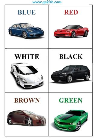 цвета на английском языке, english language colors cards