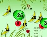 Math fruits for kids games