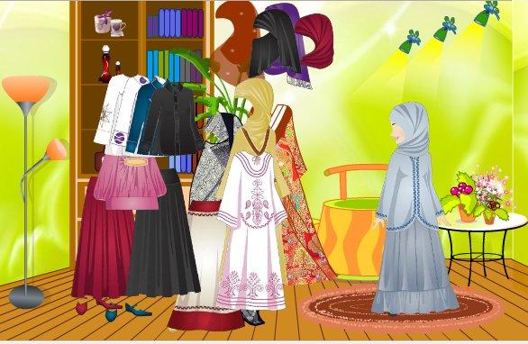 Мусульманские игры для девочек, Исламские игры, Игры для мусульман, Одень хиджаб игра
