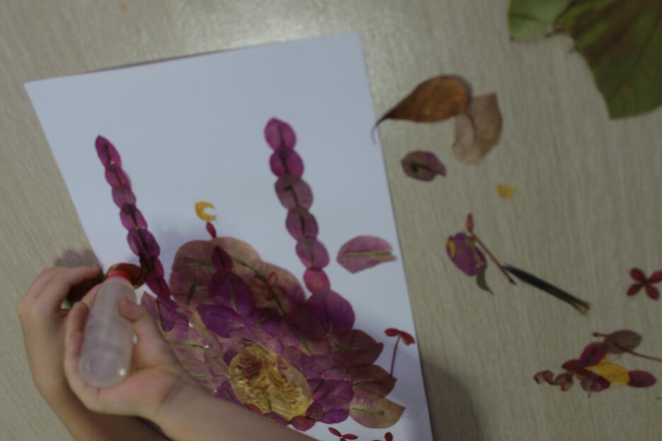 аппликация из лепестков цветов мечеть аппликации для детей