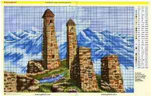 схемы вышивки мусульманские схемы вышивки горы кавказа