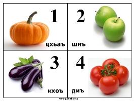 Карточки с красивыми картинками цифры на чеченском языке. Учим чеченский язык для детей и взрослых