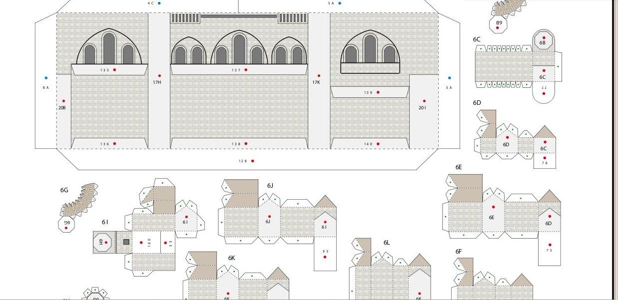 Как своими руками сделать храм из бумаги 685