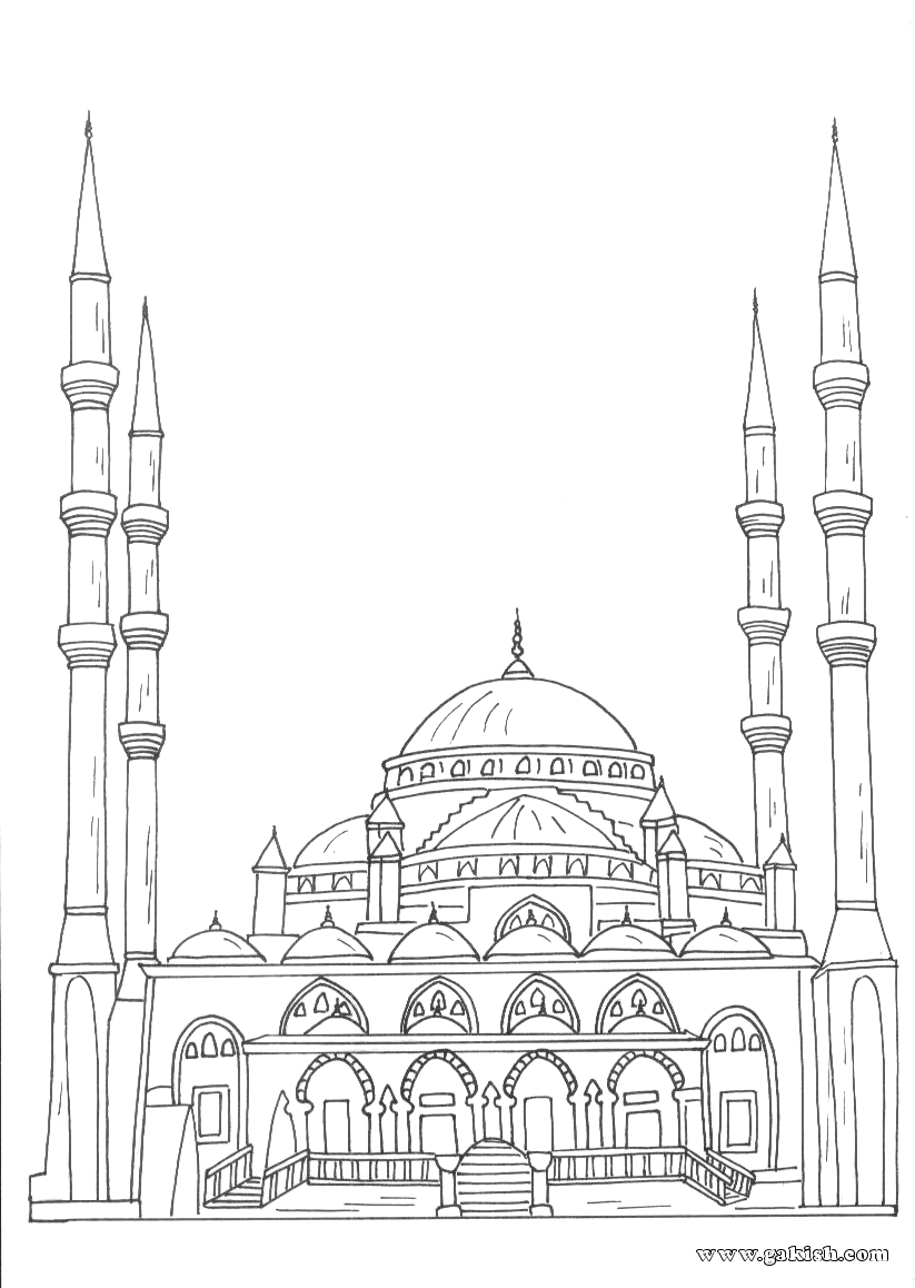 free mosque coloring pages - photo#29