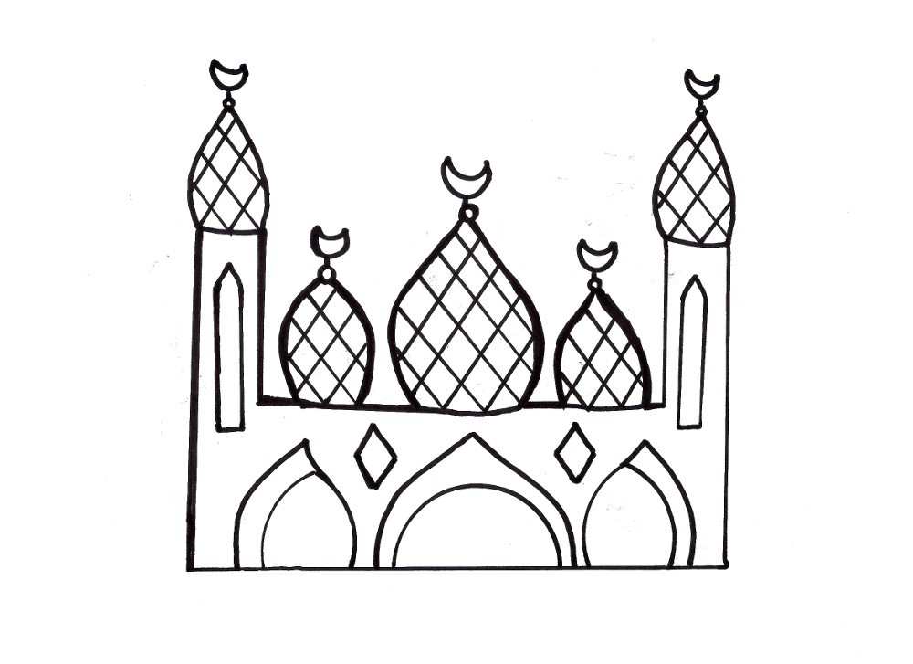 free mosque coloring pages - photo#12