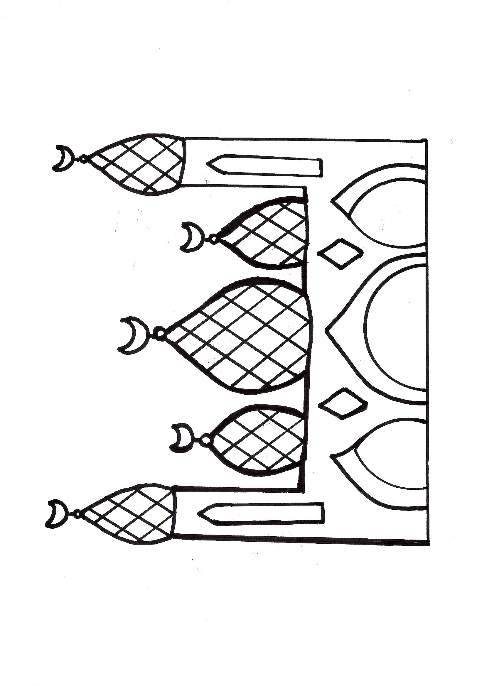 free mosque coloring pages - photo#32