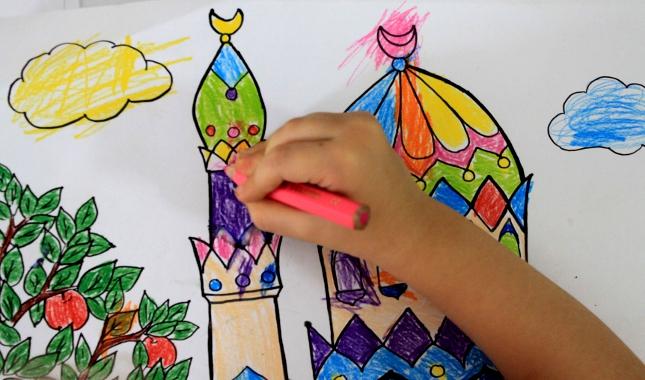 раскраски мечети мусульманские раскраски muslims coloring pages for kids