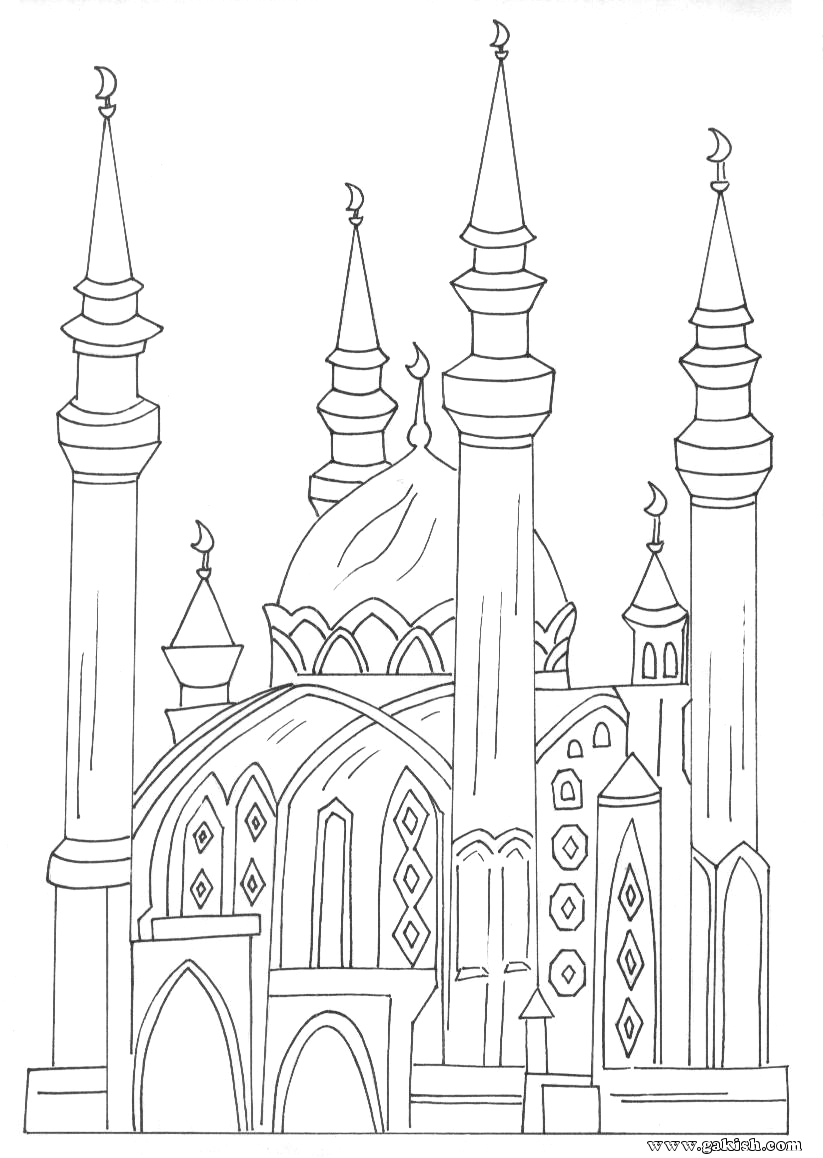 Muslim Clothing Coloring Pages