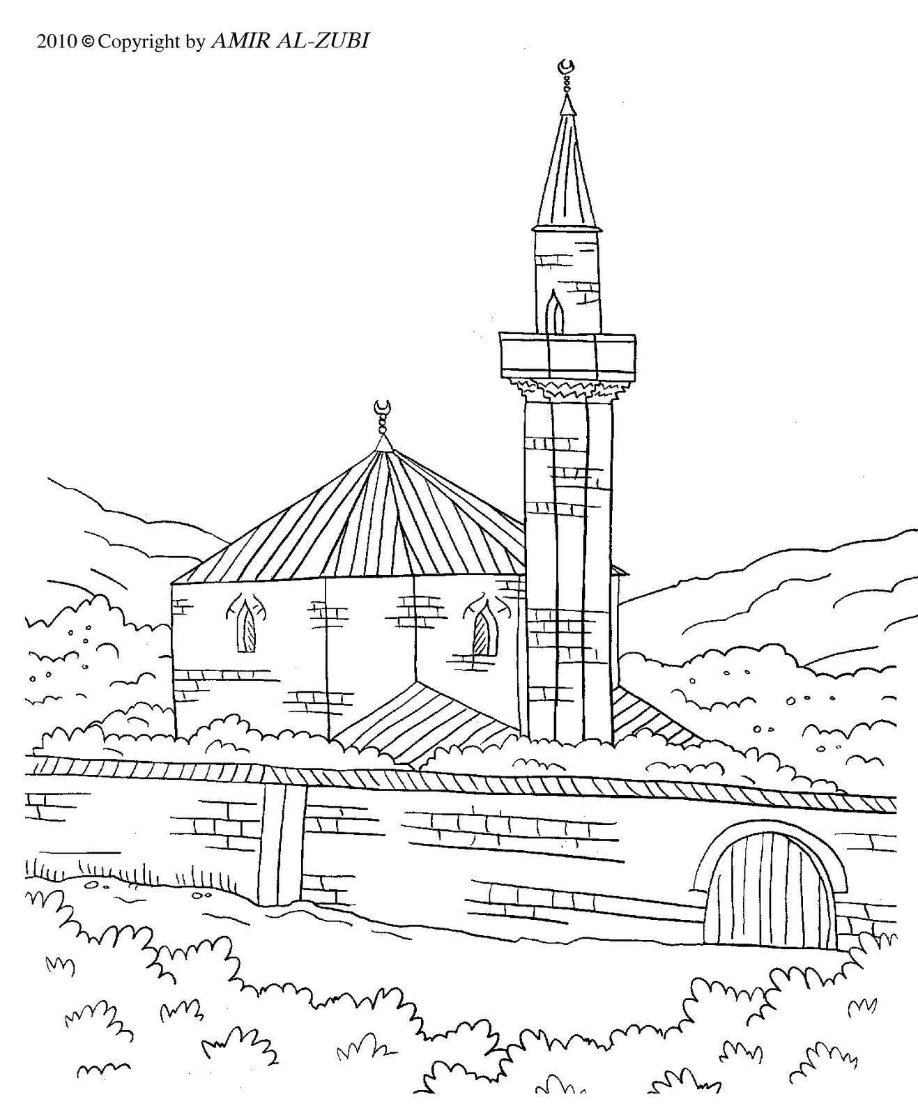 free mosque coloring pages - photo#30