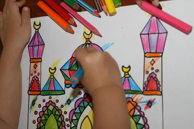 Раскраски для детей, мусульманские раскраски