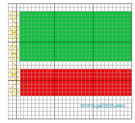 схема вышивки чеченский флаг