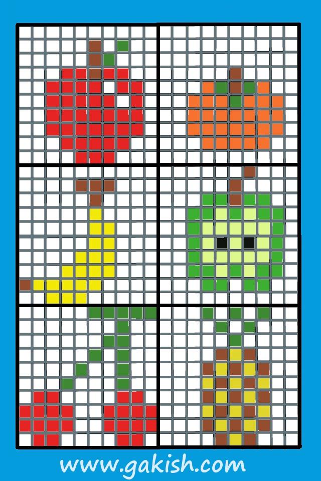 вышивки фрукты детей крестом схема для