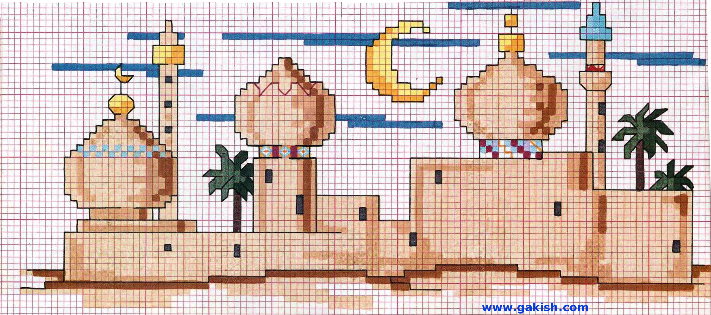Арабская тематика вышивка крестом 50
