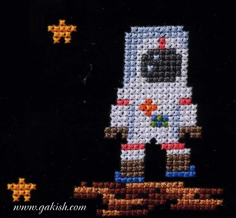 Ракета, космос, космонавт, схемы вышивки космос, космическая тема