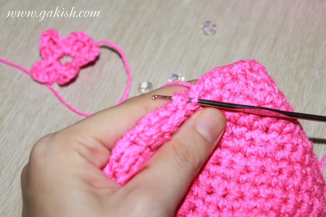 Схема вязания сумочки для девочек, сердце вязаное, вязаная сумочка, сумка своими руками для девочки