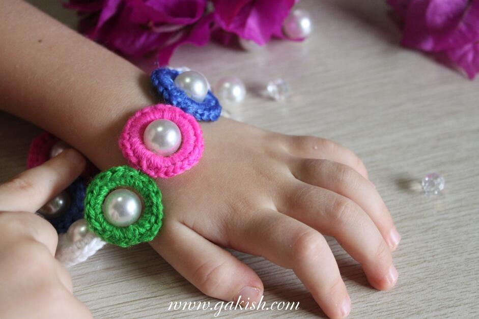 браслет своими руками вязаный браслет с жемчужинами