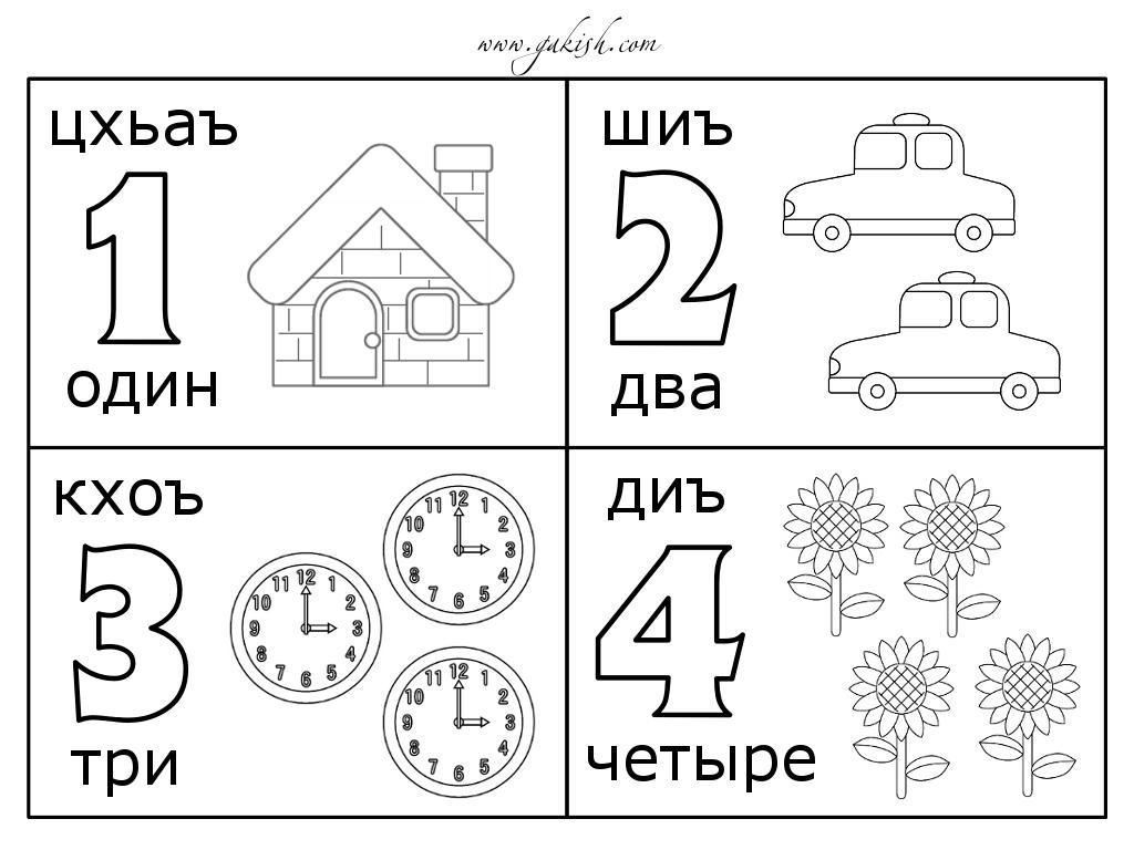Раскраска цифры для малышей - 4