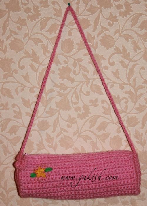 Вязаный пенал, Учимся вязать, вязание для детей, вязаные сумочки